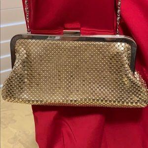 Lulu Townsend gold clutch evening purse